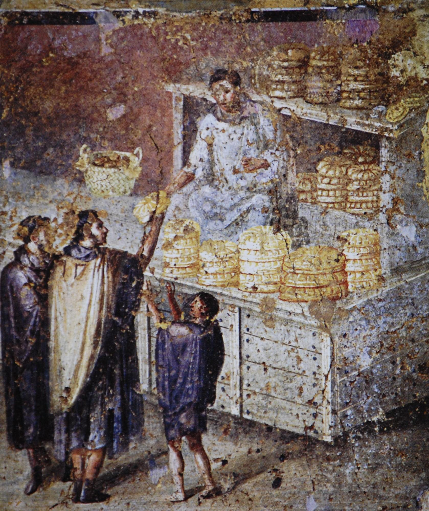 roman history penelope s weavings and unpickings painting of bread handouts