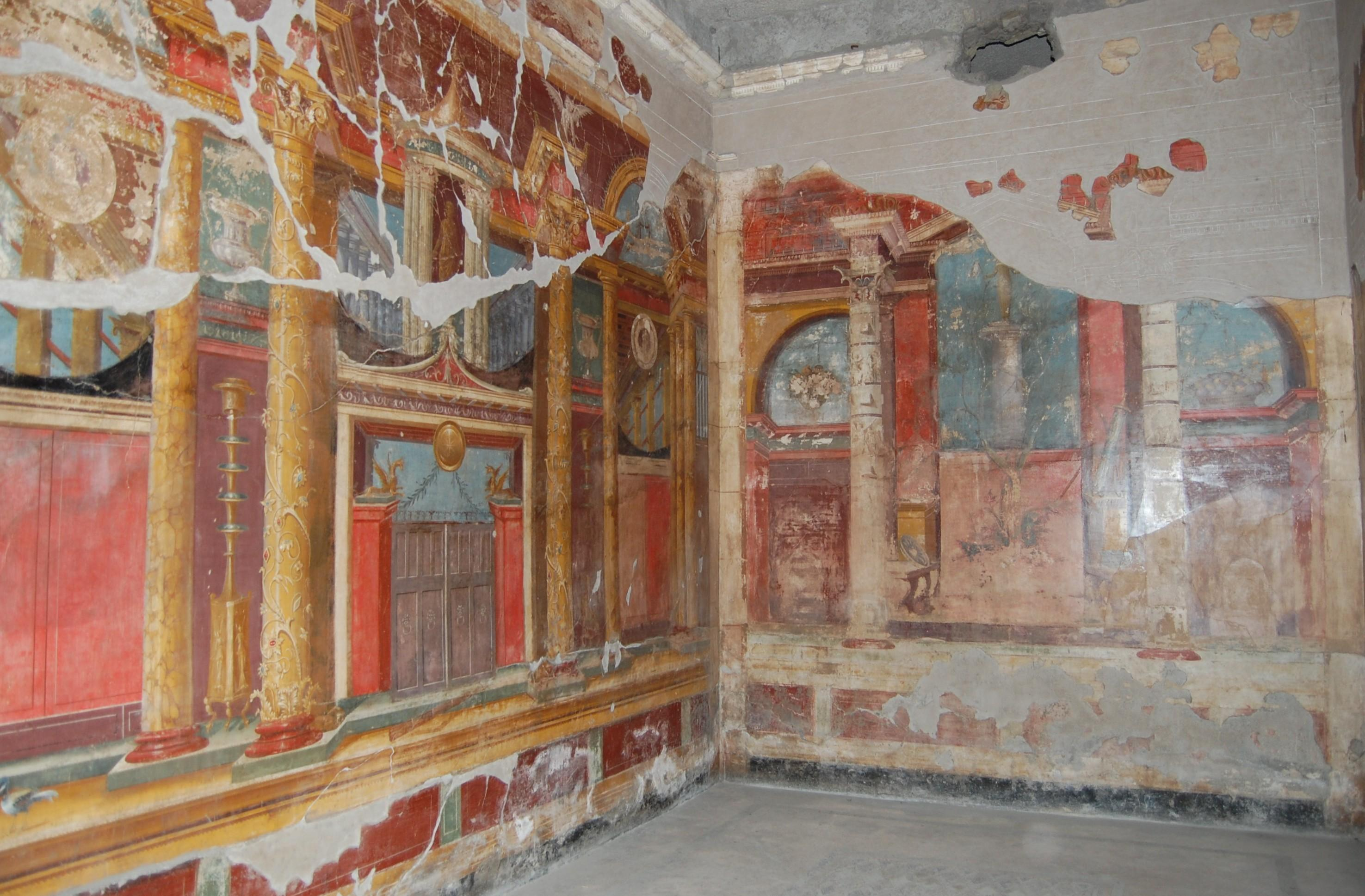 Villa oplontis wall paintings beta A wall painting